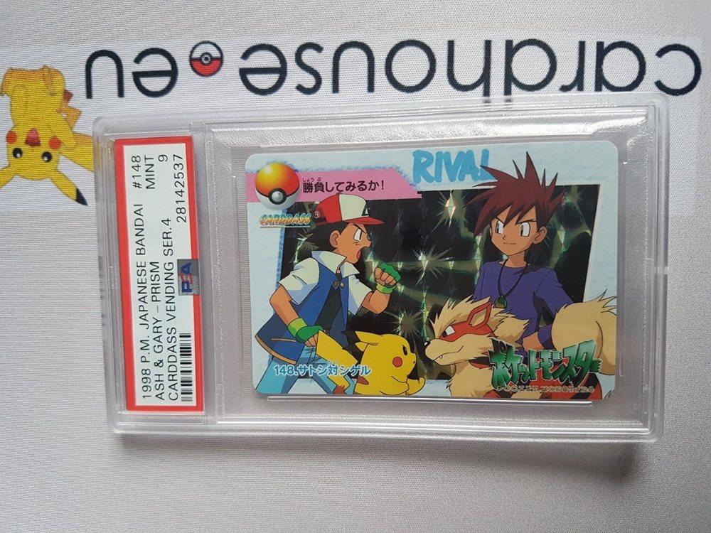Psa 9 Mint Ash Vs Gary Series 4 Japanese Bandai Pokemo