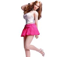 """White Coat F12/"""" PH HT Female Body Doll Pink Pleated Dress 1:6 Scale Clothes"""