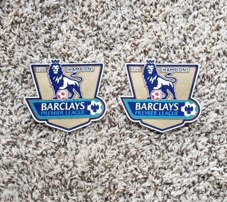 Pair Of 11/12 Premier League Golden Champions Patch Badge Parche Toppa Pièce