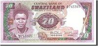 20 Emalangeni 1985 Swaziland Banknote, Undated, Km:11b