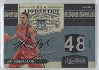 Jeff Pendergraph #1/1 (Basketball Card) 2009-10 Timeless Treasures NBA Apprentice Materials Laundry Tag Signatures [Autographed] #28