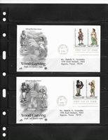 US #2240-2243 FDC ARTCRAFT WOOD CARVING (1986)