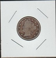 "1912 Liberty Head or ""V"" Nickel Very Good"