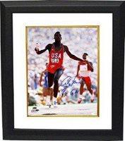 Carl Lewis signed Team USA 16x20 Photo 9 X GM Custom Framed- Tri-Star Hologram - Autographed Sports Photos