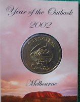 2002 Year of the Outback $1 unc Coin /'C/' Canberra Mint Mark