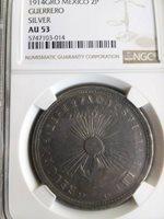 Mexico 1914 2 PESOS Guerrero Revolutionary Silver Mexican Coin