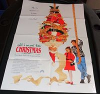 vtg 1 sheet 27x41 movie poster all i want for christmas 1991 harley jane kozak - All I Want For Christmas 1991