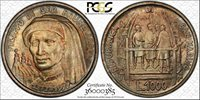 1977 SAN MARINO BIRTH OF BRUNELLESCHI 1000 L PCGS MS67 Unique Red Toned TOP POP