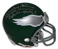 37a3691d3d6 Coach Dick Vermeil Philadelphia Eagles Autographed Mini Helmet Inscribed