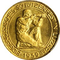 1939 B 100 Fr Luzern Haberling-23 Switzerland MS64 PCGS
