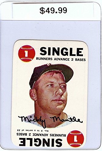 Mickey Mantle 1968 Topps Game Vintage Baseball Card Single Runners Advance 2