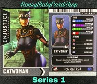 Injustice Arcade Series 1 OUT OF PRINT carte 1 régime Catwoman HOLOFOIL