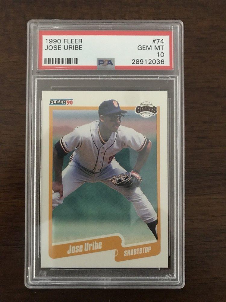 1990 Fleer Jose Uribe 74 Rare Card Authentic Graded Psa Gem Mint 10