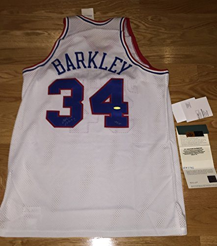 check out 196f7 67266 RARE! Charles Barkley Signed Autographed 76ers Mitchell and Ness jersey LE  134 UDA