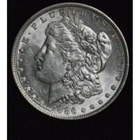 $1 One Dollar 1886 P MS63+ frosty light edge tone gem