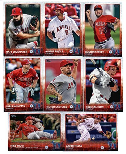 2015 Topps Baseball Cards Los Angeles Angels Team Set Series 1 2 19 Cards Including Tyler Skaggs Gordon Beckham Cj Cron Howie Kendrick
