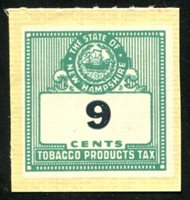 SRS NH T115a 1947-71. 9c. gray green, clear roulette. mint, VF