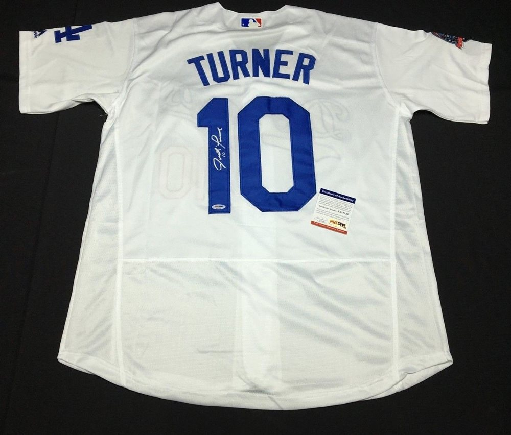 half off bf14d 542d2 Justin Turner Autographed Signed Los Angeles Dodgers Baseball Jersey  Memorabilia PSA/DNA 6A75862CUSTOM FRAME YOUR JERSEY