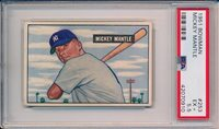 Mickey Mantle 1951 Bowman RC Rookie # 253 PSA 5.5 HE Centered Best on Ebay!