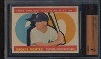 1960 Topps #563 Mickey Mantle HOF AS BVG 7 NM 51862
