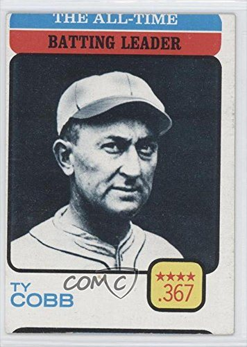 Ty Cobb Baseball Card 1973 Topps 475
