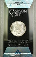 1885-CC GSA Hoard Morgan Silver Dollar $1 Coin ANACS MS-63 (B)