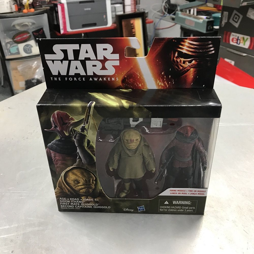 Figure 2-Pack Series The Force Awakens Star Wars Sidon Ithano /& Quiggold