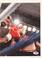 Mike Tyson Autographed Magazine Page Photo Vintage PSA/DNA #Q65669Mike Tyson Autographed Magazine Page Photo Vintage PSA/DNA #Q65669