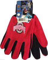 NWT NCAA Ohio State Buckeyes Non-Slip Gripper Sport Adult Utility Work Gloves