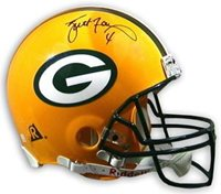 0d4cba3be Brett Favre Autographed Green Bay Packers Full Size Replica Helmet- Favre-  Signed NFL Helmets