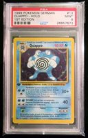 QUAPPO POLIWRATH Pokemon GERMAN PSA 9 MINT 1st Ed Base Set Holo Card 13//102
