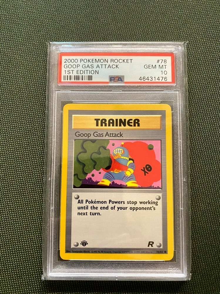 INV6356 1999-2000 TRAINER GOOP GAS ATTACK POKEMON 78//82 CARD