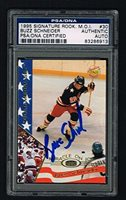 Buzz Schneider Signature Rookies Miracle On Ice signed autograph PSA Slabbed