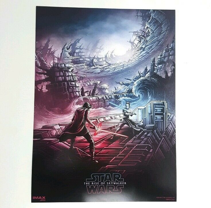 Star Wars The Rise Of Skywalker Movie Poster 9 5x13 Amc