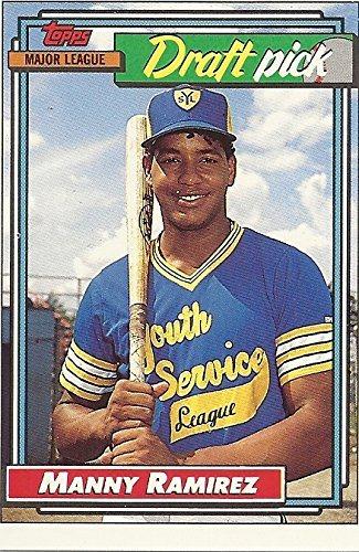 Manny Ramirez Major League Draft Pick Collectible Trading Card 1992 Topps Baseball Card 156 Cleveland Indians Free Shipping