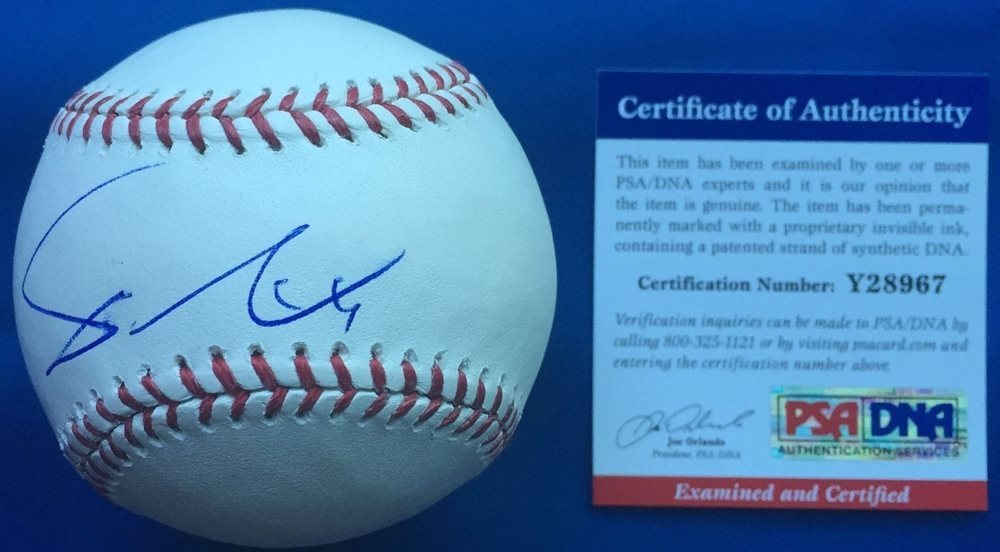 size 40 e9f19 a8635 World Series Yu Darvish Chicago Cubs Autographed Signed Rawlings OMLB  Baseball PSA/DNA - Authentic MemorabiliaCUSTOM FRAME YOUR JERSEY