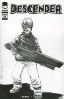 Descender #25 Cover D Variant Dustin Nguyen Walking Dead 104 Tribute Black & White Cover