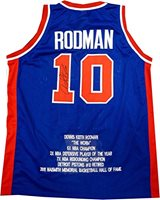 quality design 3bdcb d65a0 Dennis Rodman Hand Signed Autographed Detroit Pistons Stat Jersey The Worm  + COA