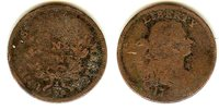 USA 1 Cent Flowing hair 17? G