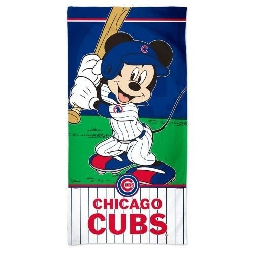 92b5811514a CHICAGO CUBS MICKEY MOUSE SPECTRA BEACH TOWEL 30