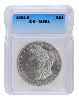 1884-S ICG MS61 Morgan Dollar