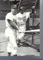 BROOKLYN DODGERS CONNECTION ICONS JACKIE ROBINSON DUKE SNIDER AT THE CAGES
