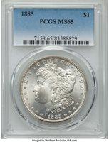 1885 $1 MS65 PCGS