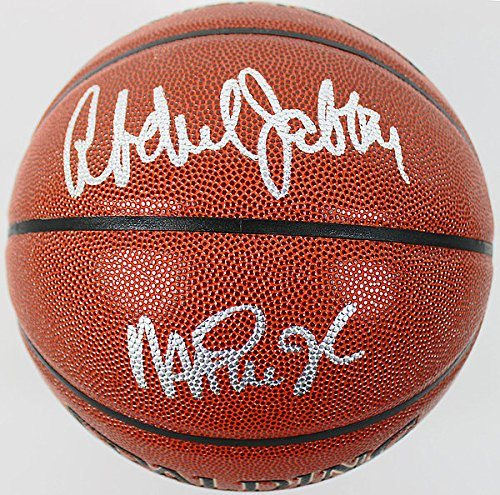check out 85cf4 88863 Lakers Magic Johnson & Kareem Abdul-Jabbar Autographed Signed Basketball -  PSA/DNA Certified
