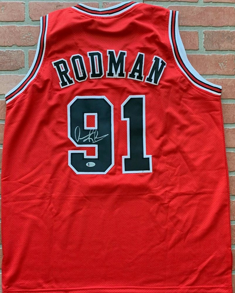 save off ac905 163f1 Dennis Rodman autographed signed jersey NBA Chicago Bulls PSA COA The Worm