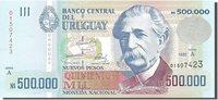 500,000 Nuevos Pesos 1992 Uruguay Banknote