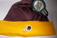 08a2f91cb6f Washington Redskins Team Logo NFL LED Light Up Hat Winter Pom Beanie Knit  Cap