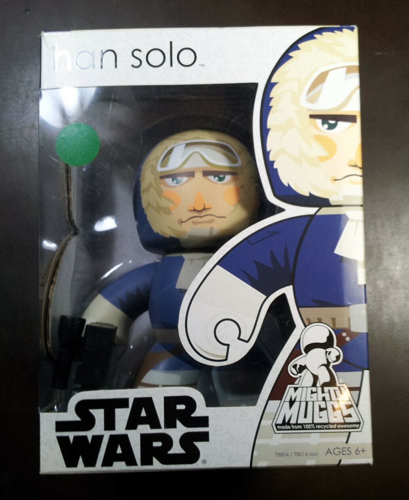 Star Wars Mighty Muggs Han Solo Hoth figure 57421