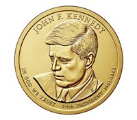 $1 Unsearched UNC 1 Mint Roll Presidential Dollar 2015-P John F Kennedy