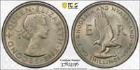 RHODESIA & NYASALAND 2 SHILLINGS 1956 (PCGS MS65) *PCGS TOP POP*